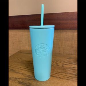 STARBUCKS MINT GREEN STAINLESS STEEL TUMBLER